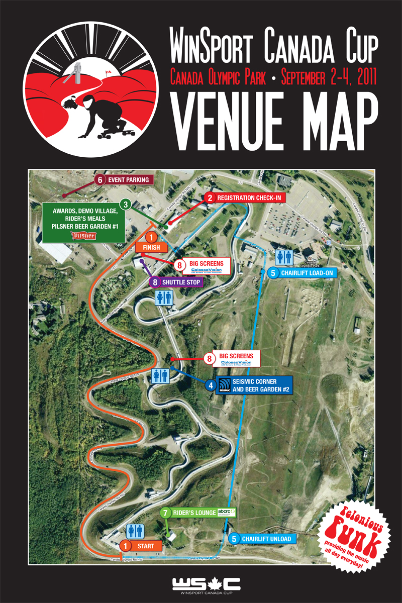 Winsport Venue Map 2011